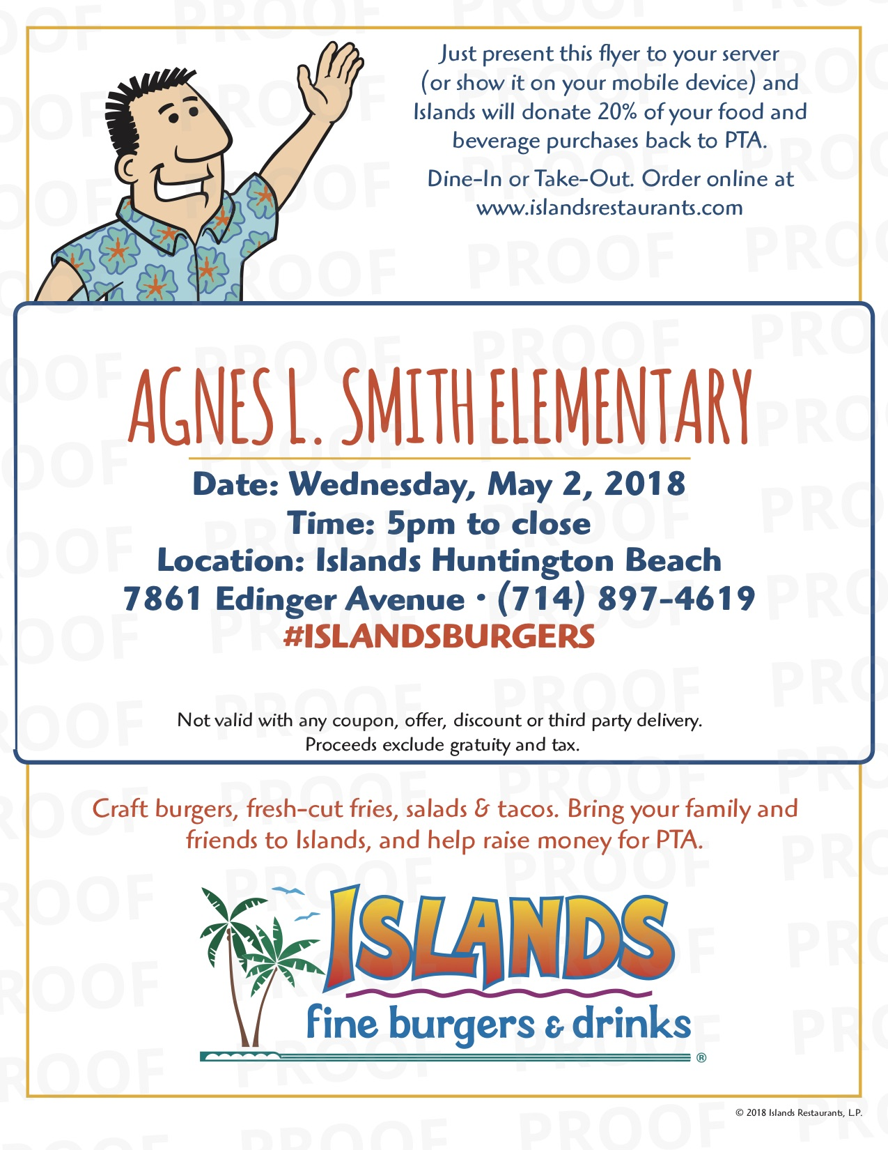 Smith Dine Out Night at Islands Bella Terra! starting at 5pm